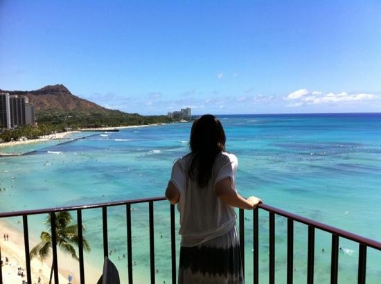 Outrigger Waikiki Beach Resort: ラナイから