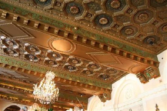 The St. Regis Washington, D.C.: Carved ceiling in restaurant, St. Regis