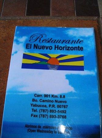 Yabucoa, Пуэрто-Рико: menu