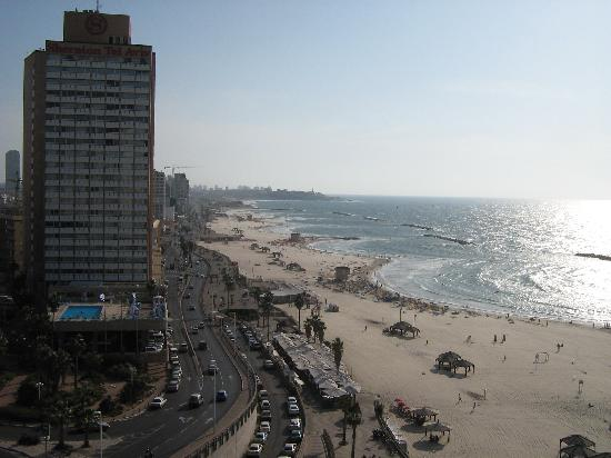 Zu-zu Segway Tours: Tel Aviv boardwalk from above