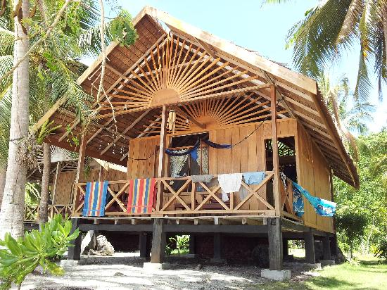 Island Retreat: our beach bungalow, with a very relaxing hammock