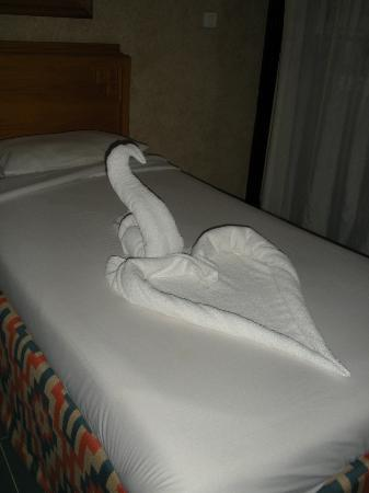 SUNRISE Holidays Resort: Just some of the towel sculptures our room boy made