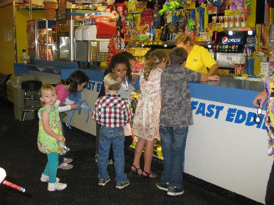 Fast Eddies Fun Center: Test your skills in our game room. Win tickets and trade them for prizes!