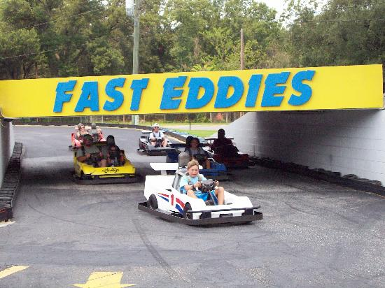 Fast Eddies Fun Center: Crazy 8 Track- Has a bridge and some crazy turns!