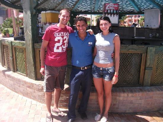 Parrotel Aqua Park: Us with El Sayed