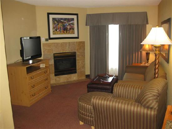 Homewood Suites by Hilton Phoenix - Biltmore: Living Room with Fireplace