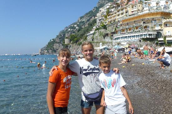 See Amalfi Coast: At the beach in Positano