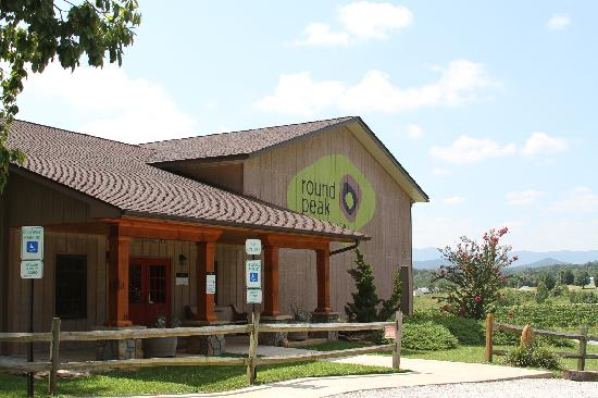 Mount Airy, NC: The main building at tasting room at Round Peak Vineyards, Mt. Airy, NC