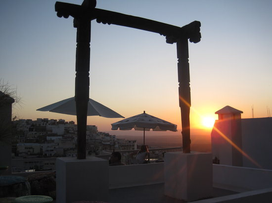 Scorpion House: The rooftop terrace at sunset