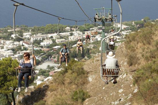 Mount Solaro: On the way down