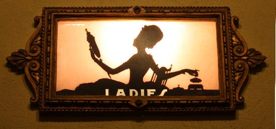 Criterion Theater : Ladies Room Sign