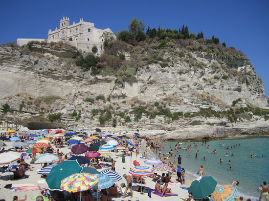 Tropea Beach looking at Santa Maria dell'Isola