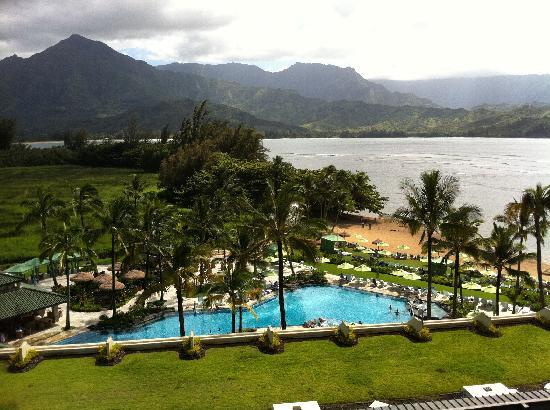 Princeville Resort: View of Hanalei Bay