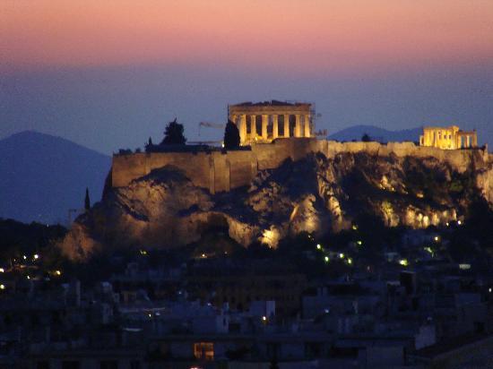 ฮิลตัน เอเธนส์ โฮเต็ล: View of the Acropolis/Parthenon from the Executive lounge