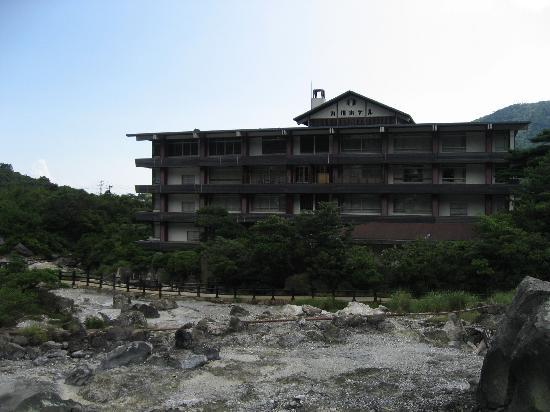 Kyushu Hotel: 地獄からみたホテル
