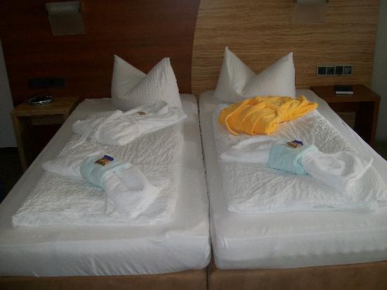 Parkhotel Reibener-Hof: Bequeme Betten.