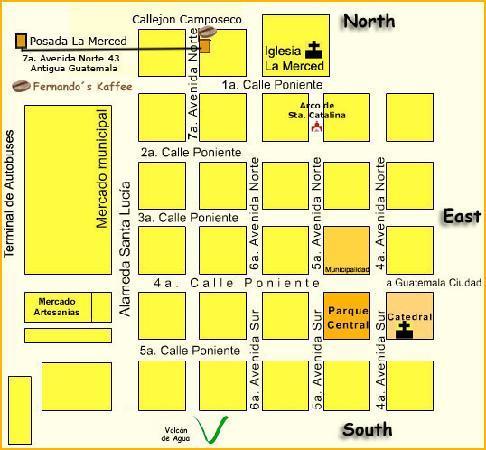 Posada La Merced Antigua: Location map