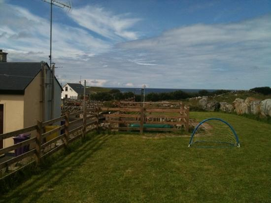Creevy Holiday Cottages : view from The Moor back garden.