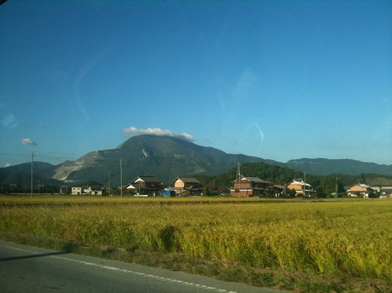 Mt. Ibuki : taken from my taxi on Sept. 15, 2011. ~sg
