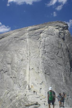 Vernal Fall: The Half Dome Rail to reach the summit