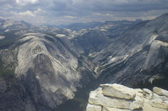 Vernal Fall: Tenaya Canyon and the face of Mt. Watkins to the left. This is one of the views from the summit