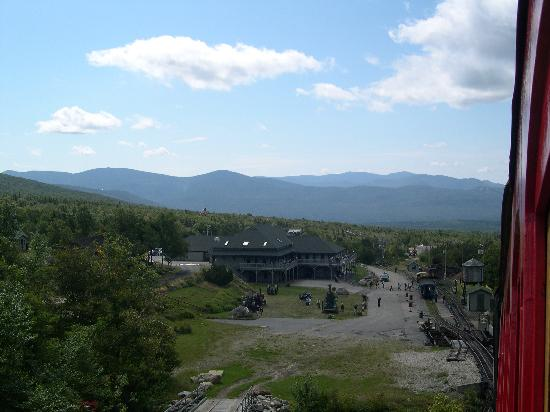 The Mount Washington Cog Railway: view of the cog station