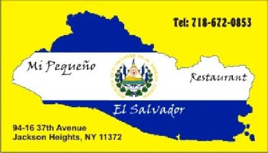 Mi Pequeño El Salvador Restaurant: This is how the sign looks.