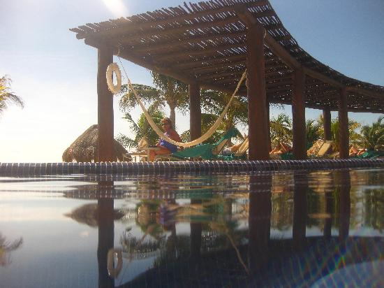 Secrets Silversands Riviera Cancun: Our pool- please note the pergola for shade