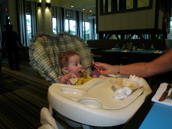 Club Med Sandpiper Bay: The restaurant high chairs