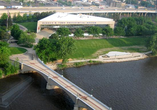 president ford's museum from our room - picture of amway grand plaza
