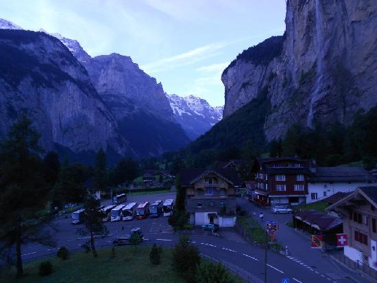Hotel Staubbach: Early morning view from balcony.