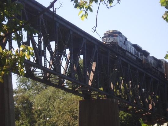 Shepherdstown, WV: Caught this train while walking on the C&O Canal trail, right across the river