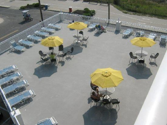 Nassau Inn: Terrasse au 2e etage