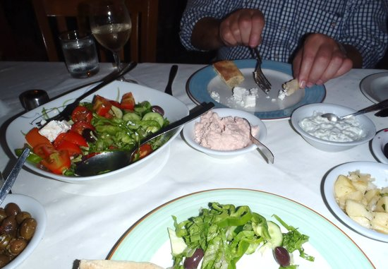 Happy Island: Some of the meze starters