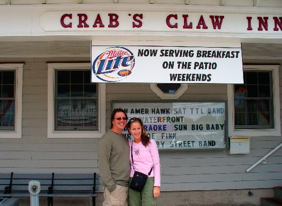 The Crab's Claw Inn: Standing in front of the Crab's Claw