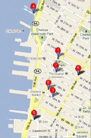 NYStrolls Walking Tours : Map of Chelsea NYStroll