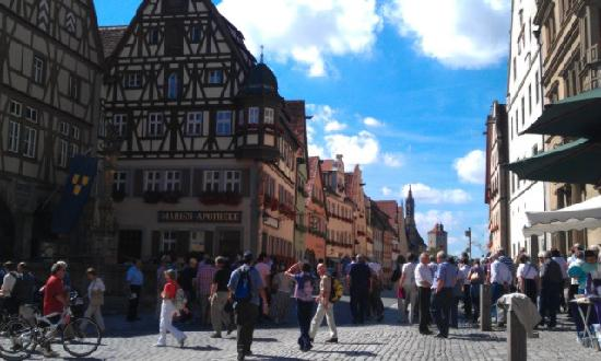 Hotel Klosterstueble: The street leading from the town square to the hotel. Perfect location!