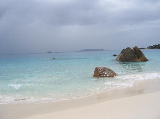 Isla Praslin, Seychelles: spiaggia di Anse Lazio