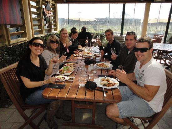Bay Tours Nelson: Our group, having lunch at Waimea Estate