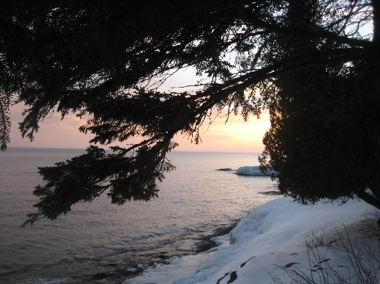 Solbakken on Superior: View by the cabins