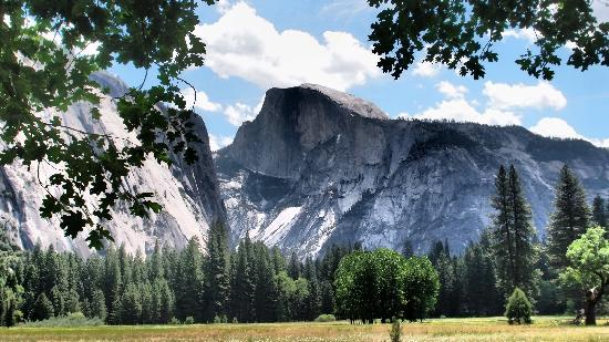 Half Dome: halfdome from the ground