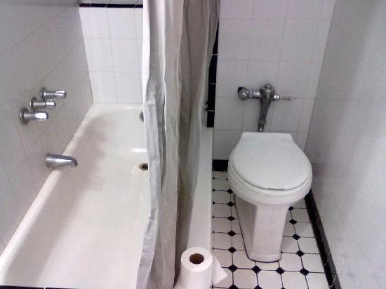Hotel Riverside Studios: tiolet,tub/shower