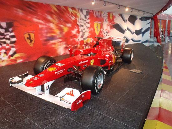 Ferrari World Abu Dhabi: One of the F1 static displays.
