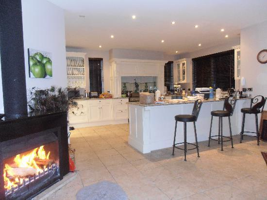 Silverstream Lodge: Breakfast by the fire !