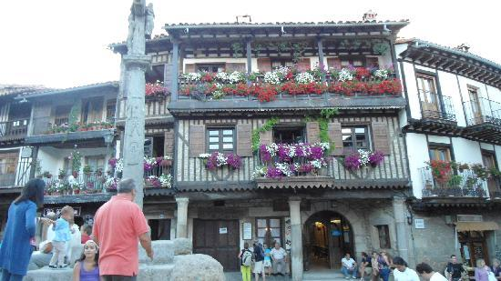 typical house from the town la alberca