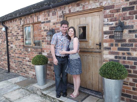 The Hayloft B&B: The happy couple on departure from The Hayloft