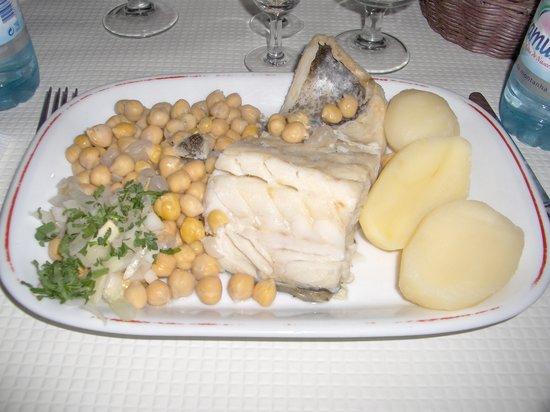 Restaurante Vossa Merce : Baccalà bollito con legumi
