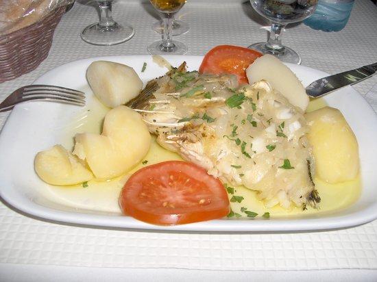 Restaurante Vossa Merce : Baccalà arrostito con patate lesse e pomodori (OTTIMO)