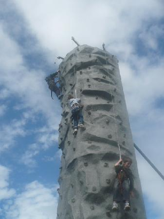 Tayto Park: the climbing wall