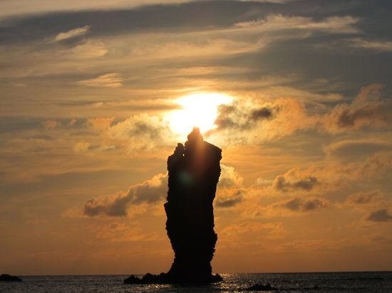 Okinoshima-cho, Japão: 雲が多いですが。。。